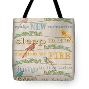 Lake Rules With Birds-c Tote Bag