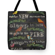 Lake Rules With Birds-d Tote Bag