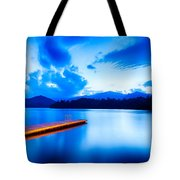 Lake Santeetlah In Great Smoky Mountains North Carolina Tote Bag