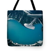 Lake Seen From A Seaplane Tote Bag