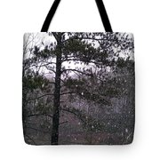 Lake Snowfall Tote Bag
