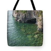 Lake Superior Cliff Scene 7 Tote Bag