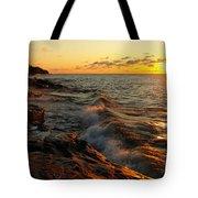 Lake Superior Dawn Tote Bag