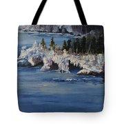 Lake Superior Ice Storm Tote Bag