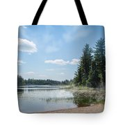 Up North - Lake Superior Misty Beach Tote Bag