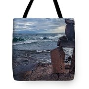 Show Me The Way - Lake Superior Rock Stack Tote Bag