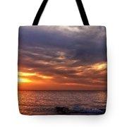 Lake Superior Sunset Panorama Tote Bag
