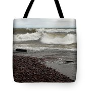 Lake Superior Surf Tote Bag