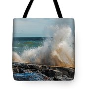 Lake Superior Waves Tote Bag