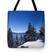 Lake Tahoe In Winter Tote Bag