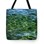 Lake Tahoe Swirls Abstract Tote Bag