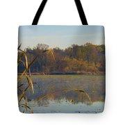 Lake Towhee In Autumn Tote Bag