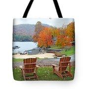 Lake Toxaway Marina In The Fall Tote Bag