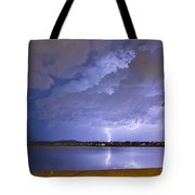 Lake View Lightning Thunderstorm Tote Bag by James BO  Insogna