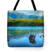 Lake View Of Mount Saint Helens  Tote Bag