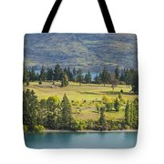 Lake Wakatipu And Queenstown Golf Course Tote Bag