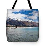 Lake Wakatipu And Snowy New Zealand Mountain Peaks Tote Bag