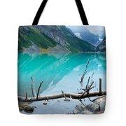 Lake With Canadian Rockies Tote Bag