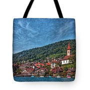 Lakefront Provincial Town Tote Bag