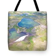 Lakes From The Seaplane In Katmai National Preserve-alaska Tote Bag