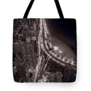 Lakeshore Drive Aloft Bw Warm Tote Bag