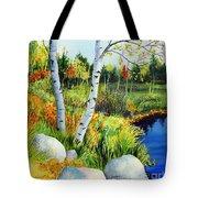 Lakeside Birches Tote Bag