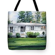 Lakeside Cottage Tote Bag