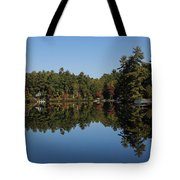 Lakeside Cottage Living - Reflecting On Relaxation Tote Bag