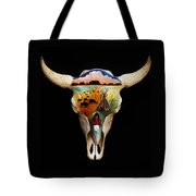 Lakota Bison Skull Tote Bag