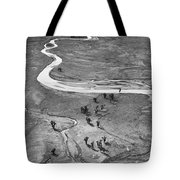 Lamar Valley Black And White Tote Bag