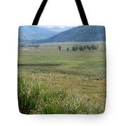 Lamar Valley Yellowstone National Park Tote Bag