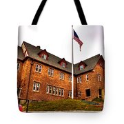 Lambda Chi Alpha Fraternity On The Wsu Campus Tote Bag by David Patterson