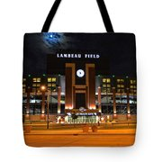 Lambeau Field At Night Tote Bag by Tommy Anderson