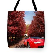 Lamborghini Maple Lane Big House Tote Bag