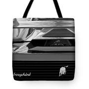 Lamborghini Rear View Emblem Tote Bag by Jill Reger