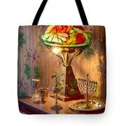 Lamp And Menorah Tote Bag