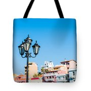 Lamp In Agios Nikolaos Tote Bag