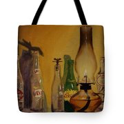 Lamp With Pop Bottles Tote Bag