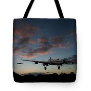 Lancasters Taking Off At Sunset Tote Bag