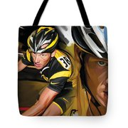 Lance Armstrong Artwork Tote Bag