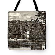 Land Of Lakes Sepia Tote Bag