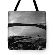 Landscape Arch Panoramic Tote Bag