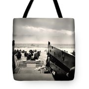 Landing At Normandy On D-day Tote Bag