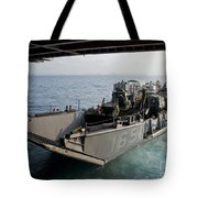 Landing Craft Utility Departs The Well Tote Bag
