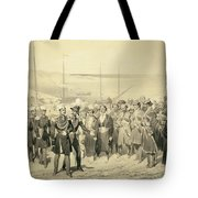 Landing Of A Military Leader Tote Bag