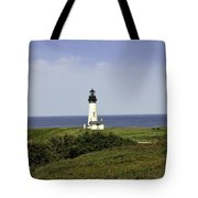 Landscape At Yaquina Lighthouse Tote Bag