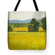 landscape art print oil painting for sale Fields Tote Bag