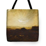 Landscape At Sunset Tote Bag by Marie Auguste Emile Rene Menard