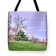 Landscape- Caboose - Little Red Caboose Tote Bag