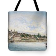 Landscape From Lake Leman To Nyon Tote Bag